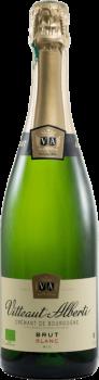 Bouteille de Crémant de Bourgogne Bio Vitteaut Alberti