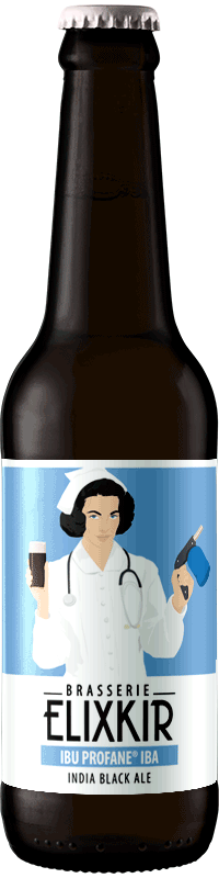 Bière Artisanale Ibu Profane India Black Ale Brasserie Elixkir