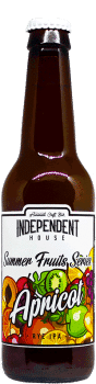Bouteille de bière Apricot IPA Brasserie Independent House