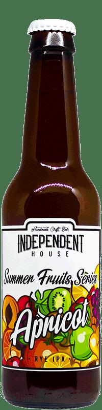 Bouteille de bière Apricot IPA Brasserie Independent House