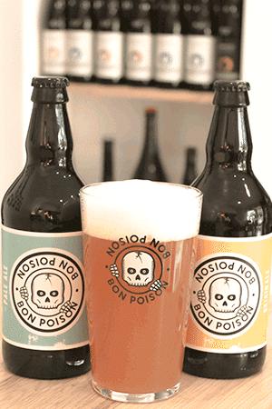 Coffret de bières artisanales avec verres brasserie Bon Poison