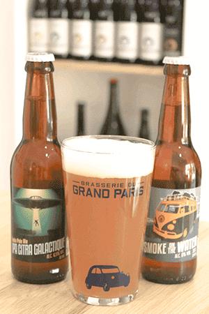 Coffret de bières artisanales avec verres brasserie Grand Paris