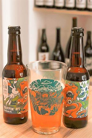 Coffret de bières artisanales avec verres brasserie Hoppy Road