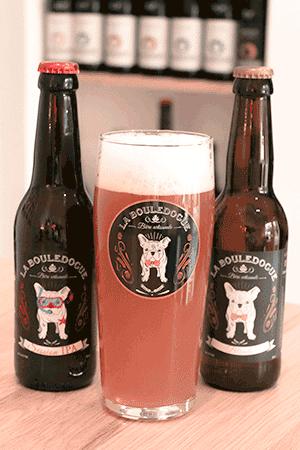 Coffret de bières artisanales avec verres brasserie Bouledogue
