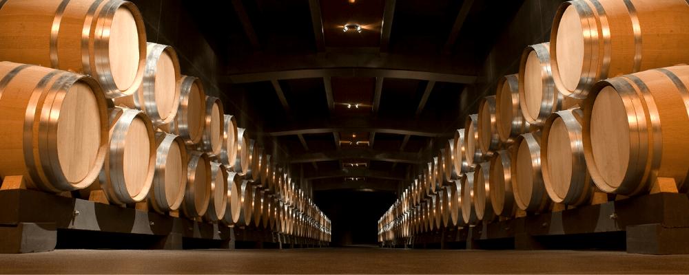 Caveau d'un domaine viticole en Bourgogne
