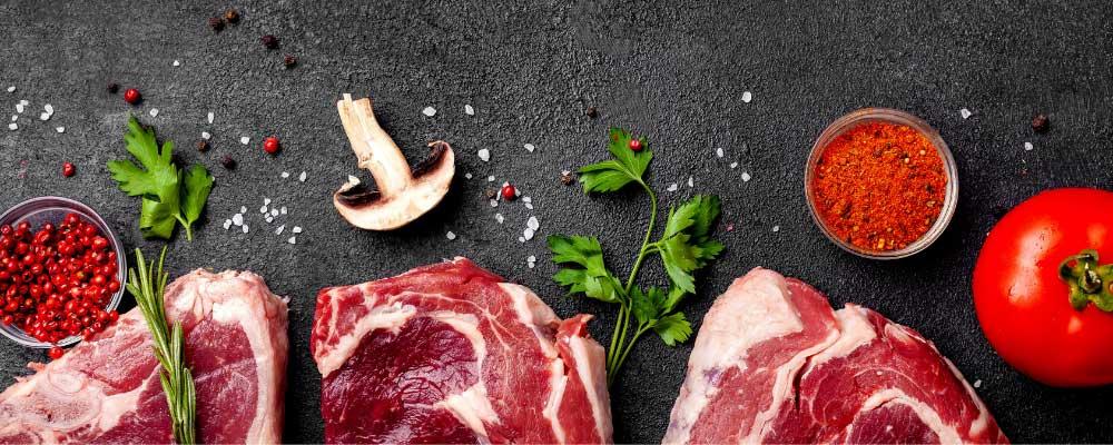 Morceaux de bœuf avant cuisson