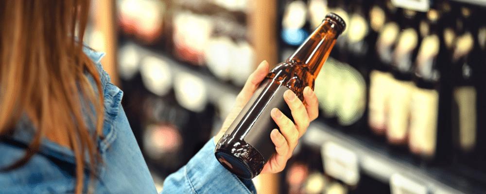 Choix d'une bière dans un rayon