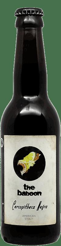 Bière Cercopitheca Negra Bouteille de bière artisanale Brasserie The Baboon