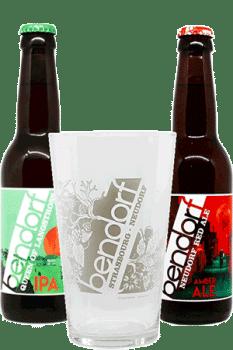 Coffret Verres et bières de la brasserie Bendorf