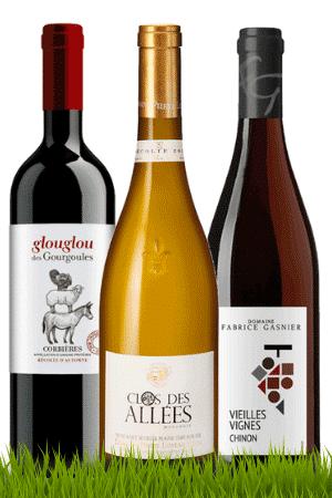 Bouteille de vins du Coffret Bio & bon