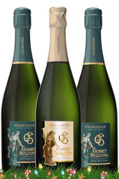 Bouteilles de Champagne du coffret Envie de Buller