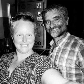 Nadine et Philippe les brasseurs de la brasserie l'Origine du Monde
