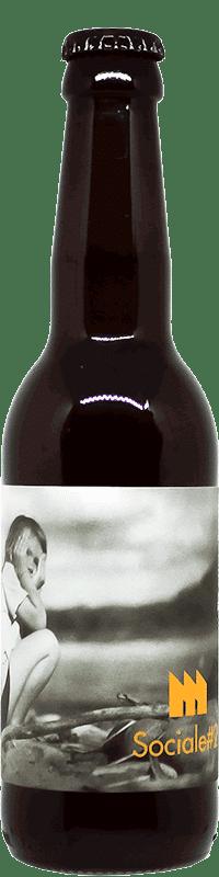 Bouteille de bière Sociale Lager Brasserie La Montreuilloise