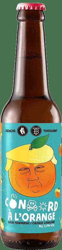 Bouteille de bière artisanale Sour Orange mandarine Brasserie 3ienchs