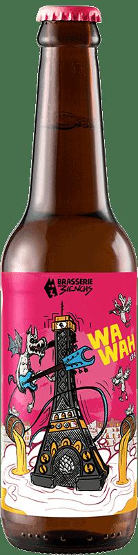 Bouteille de bière artisanale IPA Wawah Brasserie 3ienchs