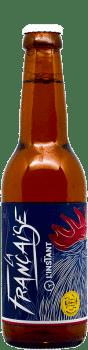 Bouteille de bière artisanale La Française Brasserie L'Instant