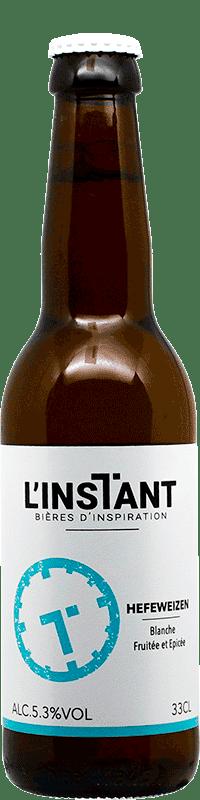 Bouteille de bière artisanale HefeWeizen Brasserie L'Instant