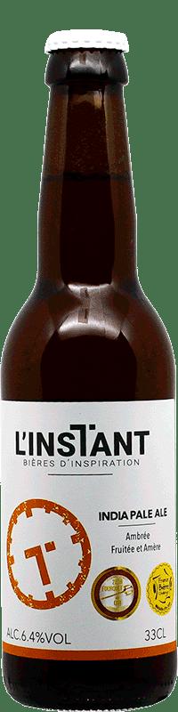 Bouteille de bière artisanale IPA India Pale Ale Brasserie L'Instant