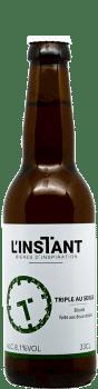 Bouteille de bière artisanale Triple au seigle Brasserie L'Instant