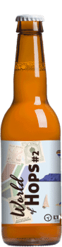 Bouteille de bière artisanale World of Hops Brasserie L'Instant