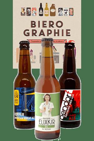 Coffret de bières artisanales et livre bièrographie