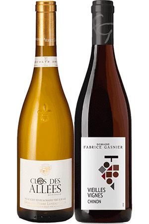 Coffret Vins de 2 bouteilles Prêt à offrir Bio