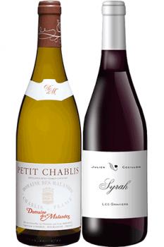 Coffret Vins de 2 bouteilles Prêt à offrir Initiation