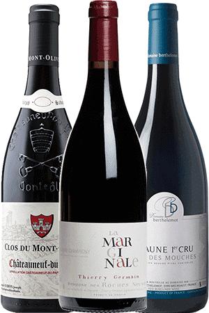 Coffret Vins de 3 bouteilles Prêt à offrir Les Grands Rouges