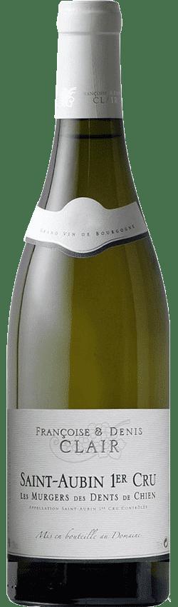 Bouteille de vin Saint-Aubin Premier Cru Les Murgers des Dents de Chien du Domaine Françoise et Denis Clair en Bourgogne