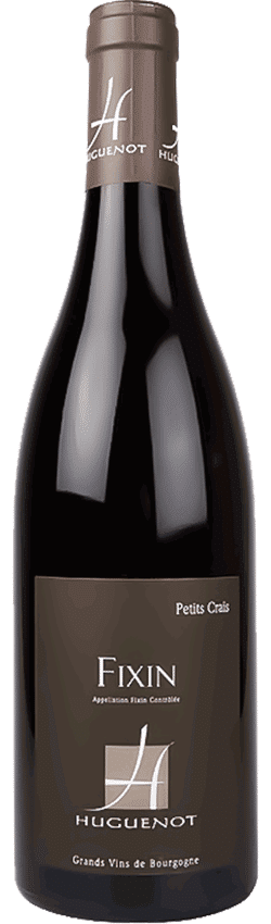 Bouteille de vin Fixin Petits Crais du Domaine Huguenot en Bourgogne