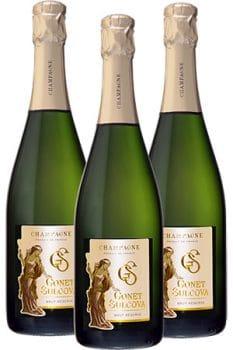 Bouteilles de Champagne Brut de la Maison Gonet-Sulcova