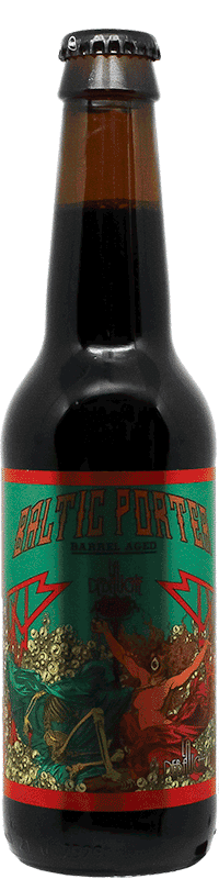 Bouteille de Bière Baltic Porter Cognac de la brasserie La Débauche