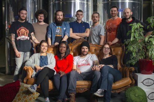 Equipe de la brasserie La Débauche