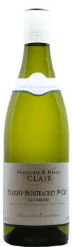Bouteille de vin Puligny Montrachet Premier Cru La Garennedu Domaine Françoise et Denis Clair en Bourgogne