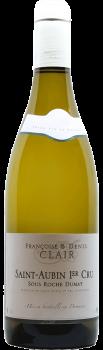 Bouteille de vin Saint-Aubin Premier Cru Sous Roche Dumay du Domaine Françoise et Denis Clair en Bourgogne