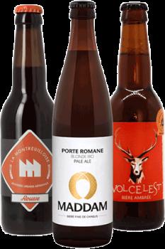 Coffret découverte de bières artisanales bio