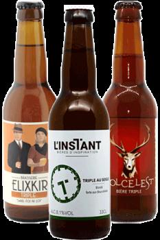 Coffret découverte de bières artisanales de style triple belge