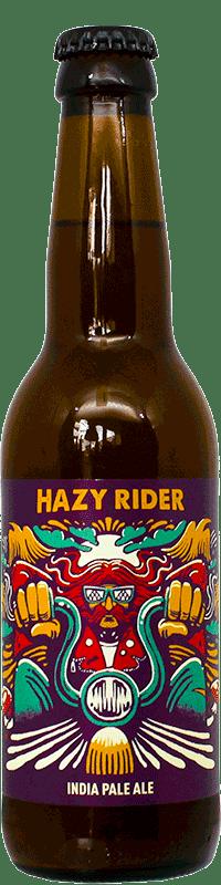 Bouteille de bière artisanale Hazy Rider Brasserie Hoppy Road