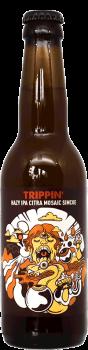 Bouteille de bière artisanale Hazy IPA Trippin Brasserie Hoppy Road