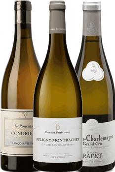 Coffret de 3 bouteilles de vin Les Grands Blancs