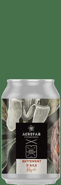 Canette de bière battement d'aile Kolsch brasserie aerofab