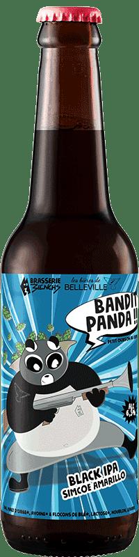 Bouteille de Black IPA Bandit Panda de la Brasserie 3ienchs