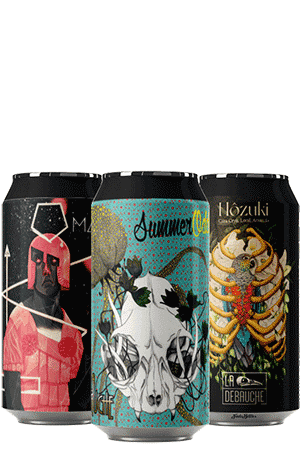 Coffret nouveautés de bières artisanales avec verres brasserie La Débauche