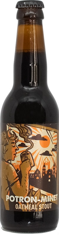Bouteille de bière artisanale Potron Minet Stout Brasserie Hoppy Road