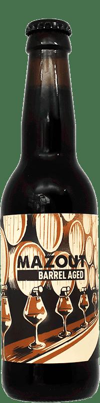Bouteille de bière artisanale Mazout Barrel Aged Brasserie Hoppy Road
