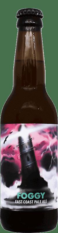 Bouteille de bière artisanale Foggy Pale Ale Brasserie Hoppy Road