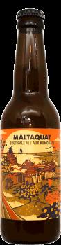 Bouteille de bière artisanale Maltaquat Brut Pale Ale Brasserie Hoppy Road