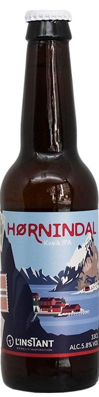 Bouteille de bière artisanale HORNINDAL kveik IPA Brasserie L'Instant