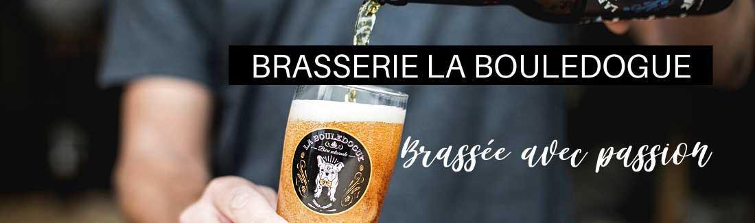 Verre de bière de la brasserie la Bouledogue