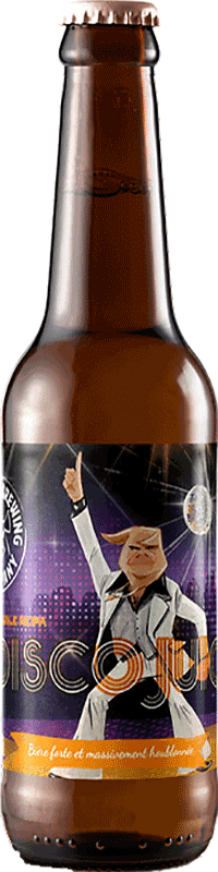 Bouteille de bière Disco Juice Double New England IPA Brasserie Piggy Brewing Company
